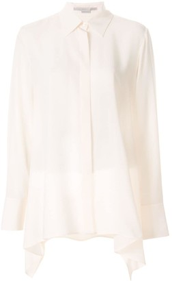 Stella McCartney long-line draped shirt