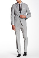 Kenneth Cole New York Light Gray Sharkskin Two Button Notch Lapel Suit
