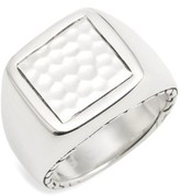 John Hardy Men's Classic Chain Hammered Signet Ring