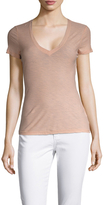 James Perse Casual Cotton Tee with Reverse Binding