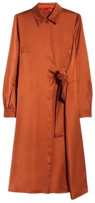 Max & Co. Silk Asymmetric Shirt Dress