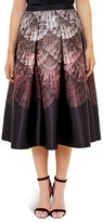 Ted Baker Ombré Fan-Print Midi Skirt