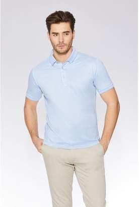 Quiz Light Blue Slim Fit Polo Shirt
