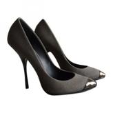 Giuseppe Zanotti Grey Cloth Heels