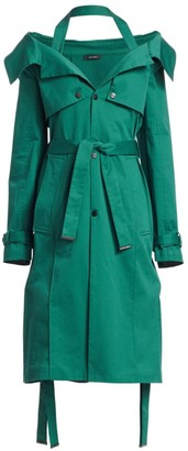 artica-arbox Halter A-Line Trench Dress
