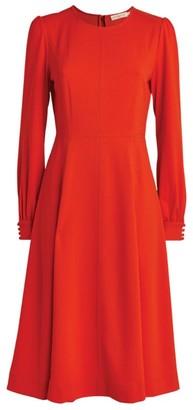 Tory Burch Knit Crepe Midi Dress