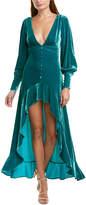For Love & Lemons Viva Silk-Blend Maxi Dress