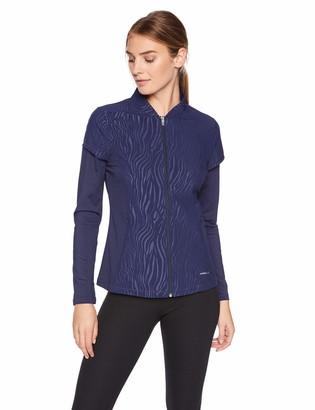 Cutter & Buck ANNIKA by Women's Weathertec Long Sleeve Hybrid Full Zip Jacket with Pockets