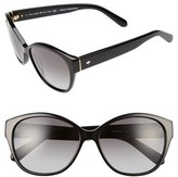 Kate Spade Women's 'Kiersten' 56Mm Cat Eye Sunglasses - Black