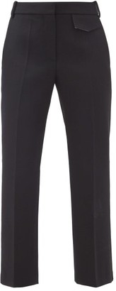 Victoria Beckham Penelope Pleated Wool-twill Trousers - Black