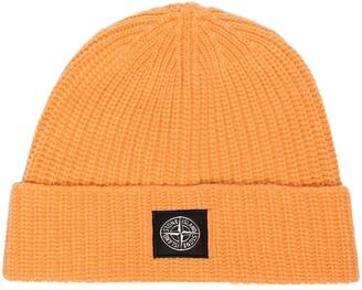 Stone Island Logo Patch Beanie Hat