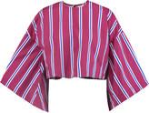 Stella Jean Cropped striped cotton-poplin top