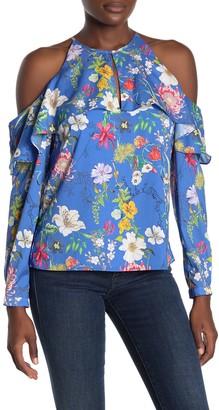 Parker Suzette Cold Shoulder Floral Print Blouse