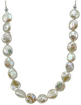 Lord & Taylor 12MM White Round Coin Pearl Slider Necklace