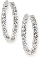 Memoire 18K White Gold & Diamond Infinity Hoop Earrings, 2.58 tdcw