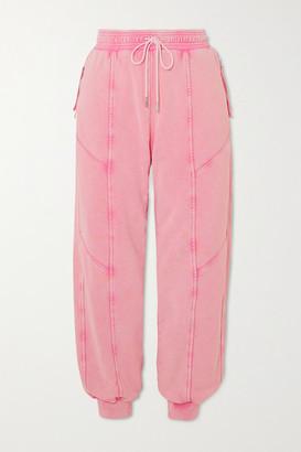 Ninety Percent Paneled Organic Cotton-jersey Track Pants - Pink