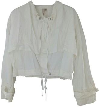 Edun White Silk Jackets