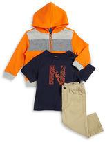 Nautica Baby Boys Zip-Up Hoodie, Tee and Pants Set