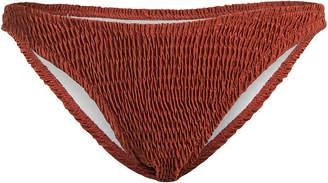 Solid & Striped Ashley Smocked Bikini Bottoms