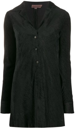 Romeo Gigli Pre Owned 1997 Textured Elongated Shirt