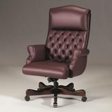 Executive Chair Triune Business Furniture Upholstery Color: Burgandy, Frame Finish: Mahogany, Tilt Mechanism: Tilt Lock Included