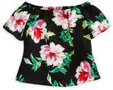 Aqua Girls' Floral Off-the-Shoulder Top, Big Kid - 100% Exclusive