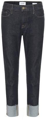 Frame Le Garcon mid-rise cropped jeans