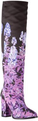 Dries Van Noten Floral-Print Knee Boots