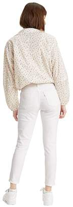 Levi's Womens 711 Ankle Skinny (White) Women's Jeans