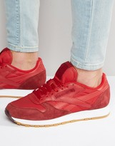 Reebok Clean Classic Trainers In Red Ar3776