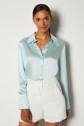 Karen Millen Collared Silk Shirt