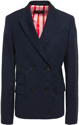 Paul Smith Double-breasted Checked Wool-blend Jacquard Blazer