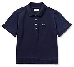 Lacoste Girls' Short-Sleeve Boxy-Fit Petit Pique Polo Shirt - Little Kid, Big Kid