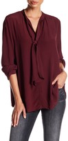 Lucky Brand Tie Neck Blouse