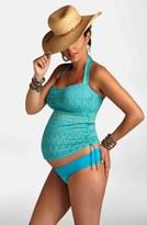 Pez D'or Jacquard Maternity Two-Piece Tankini Swimsuit