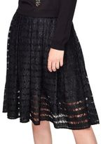 Miss Selfridge Cotton-Blend Circular Lace Midi Skirt