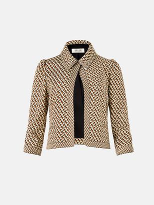 Diane von Furstenberg Sansa Jacquard Cropped Jacket