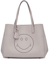 Anya Hindmarch Grey Ebury Smiley Shopper Tote