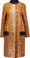 Proenza Schouler Python coat