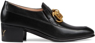 Gucci Women's leather Horsebit chain loafer