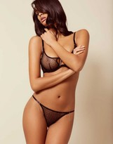 Agent Provocateur Madge Thong Black And Silver