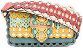 Burberry embroidered buckle bag - women - Cotton/Leather - One Size
