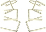 French Connection Mini Trapeze Overlapping Link Ear Crawler Earrings