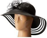 San Diego Hat Company DRS1011 Derby Dress Hat with Organza Bow