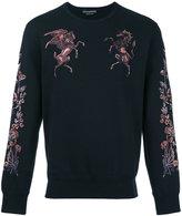 Alexander McQueen embroidered sweatshirt - men - Cotton/Polyester/Viscose - S