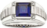 JCPenney FINE JEWELRY Mens Sterling Silver Sapphire Ring