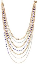 JLO by Jennifer Lopez Blue Bead & Disc Swag Necklace