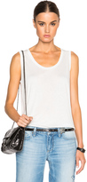 Alexander Wang Low Neck Flared Tank
