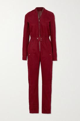 Rick Owens Tuta Cotton-twill Jumpsuit - Red