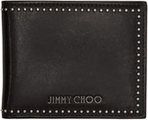 Jimmy Choo Black Studded Mark Wallet